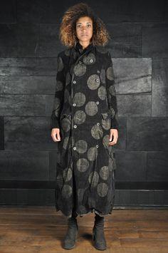 Uma Wang – Long Dot Coat - PNP, fashion stores in Florence