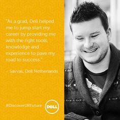 Say hello to Savvas, a recent graduate hire at Dell Amsterdam. After finishing his Master's in Management of Innovation, he joined our Graduate Trainee Program in November. For more on joining Dell from university, please see: Finish Him, Dell Computers, Career Opportunities, What Is Life About, Say Hello, Amsterdam, Innovation, November, University