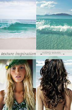 beachy waved hair- josie maran