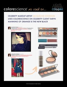 Orange is the new black star Taryn Manning using ColoreScience products!