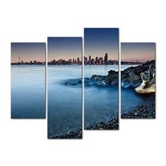 4 Pieces Modern Canvas Painting Wall Art The Picture For Home Decoration  Beach Tree Log Seascape Coast Print On Canvas #walldecor #interiordesigner #homedecor #wallartprints #artdecor #artprint #canvasphotoprints #wallartdecor #wallpainting