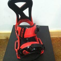 New 2012 Burton Custom Est Snowboard Bindings Red M $155