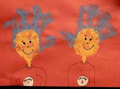 Dr. Seuss Hand Print Project