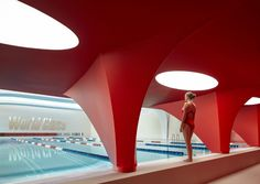 russia-based architecture firm VOX have designed a modern image winning a competition for the interior world class, the russian fitness club.