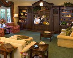 Cool DIY Entertainment Center Ideas & Plans, Your Unlimited Homemade Leisure! Cool Diy, Porches, Wall Entertainment Center, Family Room Design, Family Rooms, Living Rooms, Living Area, Apartment Living, Simple House