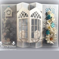 Bilderesultat for marianne design icicle window Fun Fold Cards, Pop Up Cards, Folded Cards, Diy Cards, Christmas Cards, Marianne Design Cards, Spellbinders Cards, Window Cards, Interactive Cards