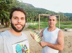 Darlys Francisco e seu irmão Dennys Pierry no Lago de Palmas/ Tocantins