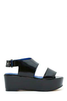 3cf76572c3f Jeffrey Campbell Linden Flatform Black Flatform Sandals