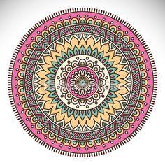 Mandala decoración étnica — Ilustración de stock #67160821