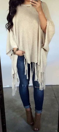 #fall #outfits women's brown poncho #winterclothingwoment