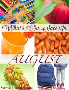 Find out what items will be at their rock bottom prices during the month of August!!