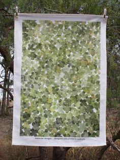 Nardoo Printed Tea Towel Meander Designs