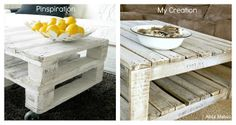 How to Whitewash a Pallet Coffee Table DIY