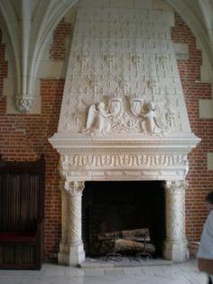 Chateau d'Amboise (Indre et loire) - cheminée Renaissance