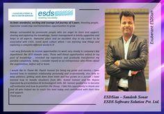 Meet Exuberant ESDSian – Sandesh Sonar #Success #EmployeeSatisfaction #JobSatisfaction