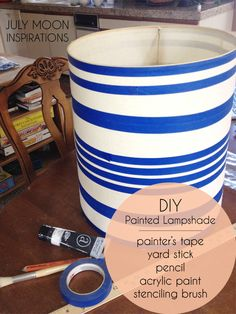 July Moon Inspirations - DIY Painted Lampshade Supplies