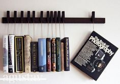 Funny pictures about Wenge Wooden Book Rack. Oh, and cool pics about Wenge Wooden Book Rack. Also, Wenge Wooden Book Rack. Hanging Bookshelves, Creative Bookshelves, Bookshelf Design, Bookshelf Ideas, Book Shelves, Simple Bookshelf, Glass Shelves, Modern Bookshelf, Bookcases