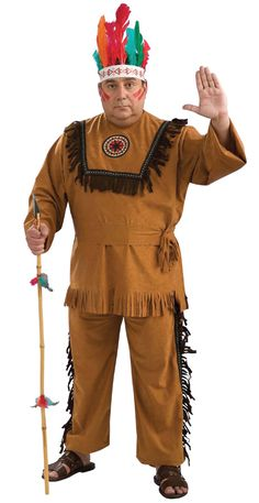 Do you see this as racial profiling? I mean, you're looking at it and you can tell that he is supposed to be Native American. Does that mean all Native Americans look this way? No. This wears a fine line.