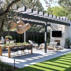 Outdoor Seating, Outdoor Rooms, Outdoor Living, Outdoor Furniture, Backyard Patio Designs, Garden Studio, Villa, Outdoors, Deck