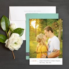 Vintage Library Save The Date Cards By Emily Crawford | Elli
