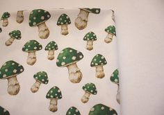 Magic Green Mushroom Printed Cotton Fabric 1 yard from Thistle and Fox Woodland Theme, Draped Fabric, Fabric Bags, Make Design, Surface Pattern Design, Custom Fabric, Printed Cotton, Craft Supplies