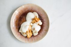 Scallop recipe with celeriac and white chocolate by professional chef Sam Ashton-Booth Seafood Dishes, Seafood Recipes, Mayfair Restaurants, Star Chef, Celeriac, Scallop Recipes, Professional Chef, Best Chef, Chocolate Cream