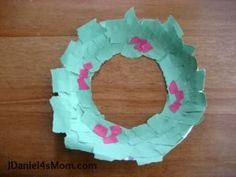 Torn Paper Christmas Wreath