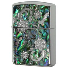 Armor Zippo Lighter Mosaic Natural Shell Inlay Both Sides Design DS-B
