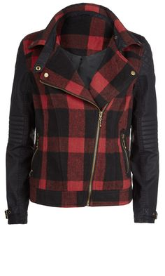 Primark AW13 Collection: Tartan Biker Jacket