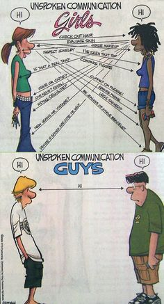 unspoken communication between guys & girls