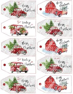 Best 11 5 Free Vintage Truck Christmas Printables: Classic vintage Christmas truck print to fill your home with charm and cheer. Christmas Truck, Christmas Holidays, Christmas Decorations, Christmas Nativity, Christmas Ideas, Vintage Christmas Crafts, Xmas, Christmas Tags Printable, Free Printable Tags