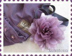 Jasmine Purple Hair flower headband by xoxotova on Etsy, $10.00