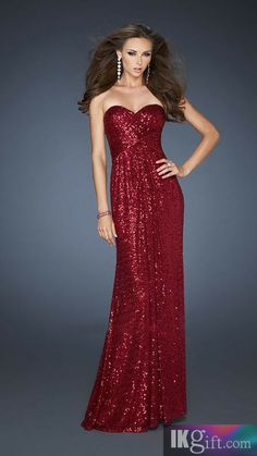 Id do something sparkly for prom- definitely bot red though
