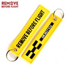 Find More Key Chains Information about Remove Before Flight Key Chain FOLLOW ME OEM Keychain Jewelry Embroidery Safety Tag Aviation Gifts llavero Fashion Sleutelhanger,High Quality fashion keychain,China keychain fashion Suppliers, Cheap fashion key chain from REMOVE BEFORE FLIGHT Official Store on Aliexpress.com