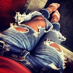 Ripped jeans are my favorite jeans