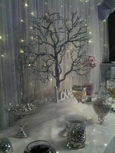 My winter fairytale inspired candy buffet at the Malta wedding fair by rosemarie Winter Wonderland Theme, Wonderland Party, Winter Theme, Winter Wonderland Centerpieces, 25th Wedding Anniversary, Anniversary Parties, Chandelier En Argent, Jasmin Party, Wedding Fair