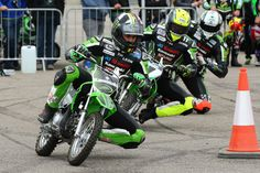 Our BSB riders swap their usual bikes for mini motorbikes at K-World Live