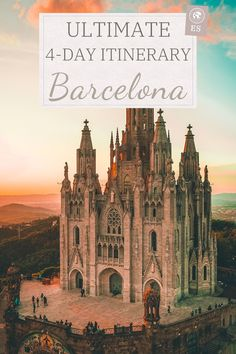 Ultimate 4-day itinerary to Barcelona, Spain! This tourist mecca if full of attractions, Sagrada Familia, Park Guell, Casa Mila, so explore and learn everything about them before visiting Barcelona! This itinerary will teach you what to visit and how to save in money in Barcelona, Spain! | Barcelona save money | Things to do Barcelona | Barcelona Bucket list itinerary #barcelona #travel #itinerary #bucket #spain #guide #money #attractions #europe Barcelona Travel Guide, Spain Travel Guide, Visit Barcelona, Europe Travel Tips, Barcelona Spain, Travel Guides, Travel Destinations, Barcelona Trip, European Vacation