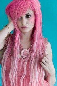 Cheveux Couleur Rose Framboise Pastel Sans Decoration