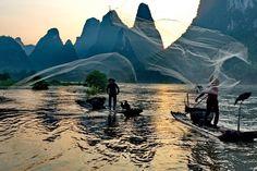 In einer klassische China Rundreise darf eine Bootsfahrt entlang des Li Flusses nie fehlen.