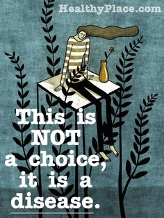"Quote on mental health stigma: ""This is not a choice, is a disease"""