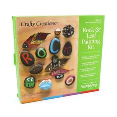 Gift Guide - Little Passports Rock Painting Patterns, Rock Painting Ideas Easy, Painted Rocks Kids, Painted Leaves, Minion, Rock Painting Supplies, Little Passports, Cactus, Gifts For Art Lovers