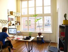 Workspace inspiration, via Buckets and Spades