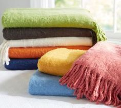 colorful throws - Pottery Barn