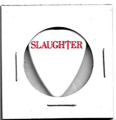Slaughter - Mark Slaughter Signature Series Tour Guitar Pick! 7/13/07 Rocklahoma
