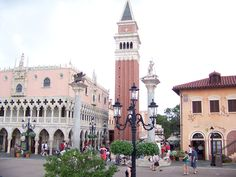 Italy in World Showcase - Epcot This was one of my favorite places to visit in epcot. We had authentic italian pizza and I got free Italian ice cream and got sung to happy birthday in of course....Italian! It was amazing!