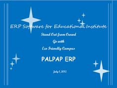 PALPAP ERP Exclusively For Educational Institution