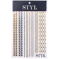 STYLondon Metallic Tattoos ($4.95) ❤ liked on Polyvore featuring accessories, body art, tattoos, beauty, makeup and tatoo