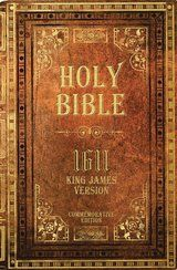 This book cover is from a commemorative reprint of the 1611 King James Version of the Holy Bible. The King James Bible will celebrate its 400th anniversary in 2011.