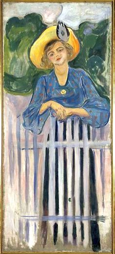 """Edvard Munch - Ingse Vibe Ingse (eg. Ingeborg Majory) Vibe (1882-1945)  Norwegian actress. Munch also called her """"Ingstad""""  --"""